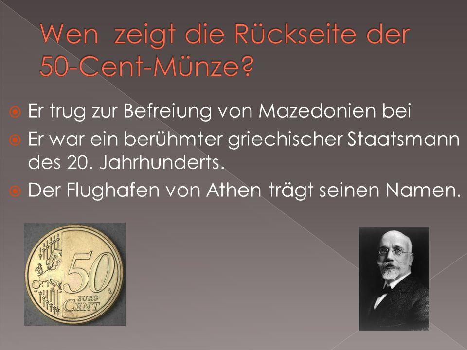 Wen zeigt die Rückseite der 50-Cent-Münze