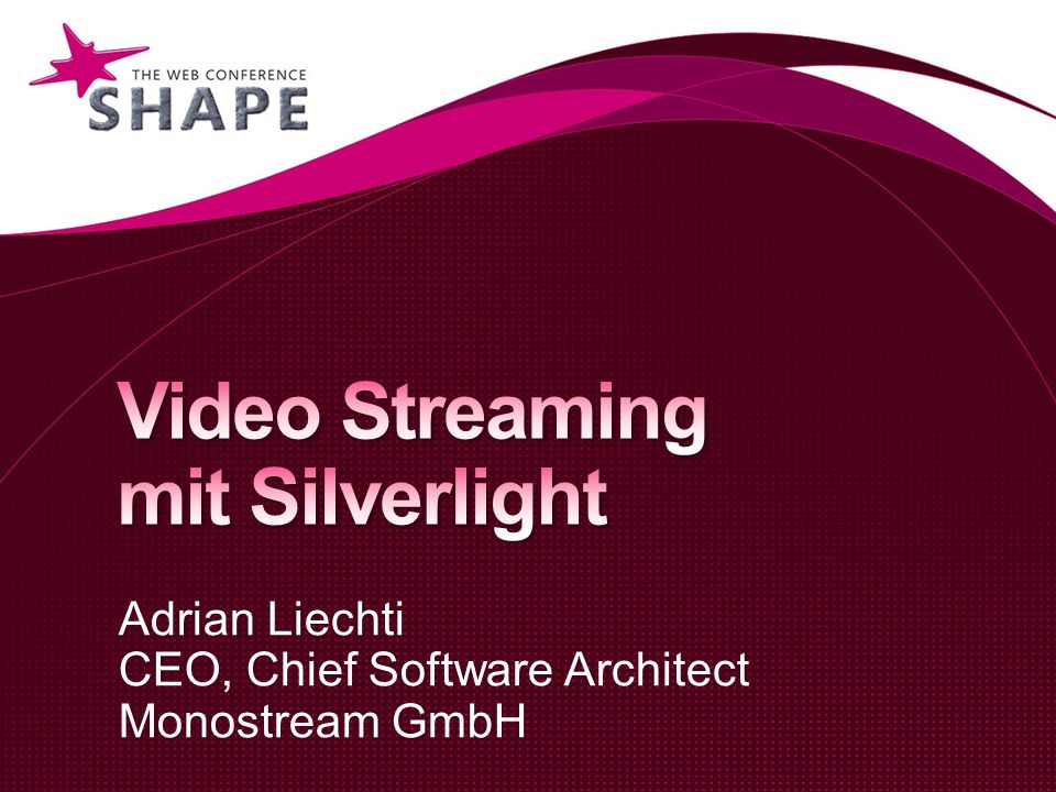 Video Streaming mit Silverlight