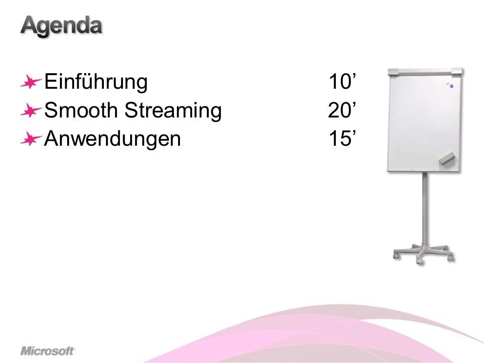 Agenda Einführung 10' Smooth Streaming 20' Anwendungen 15'