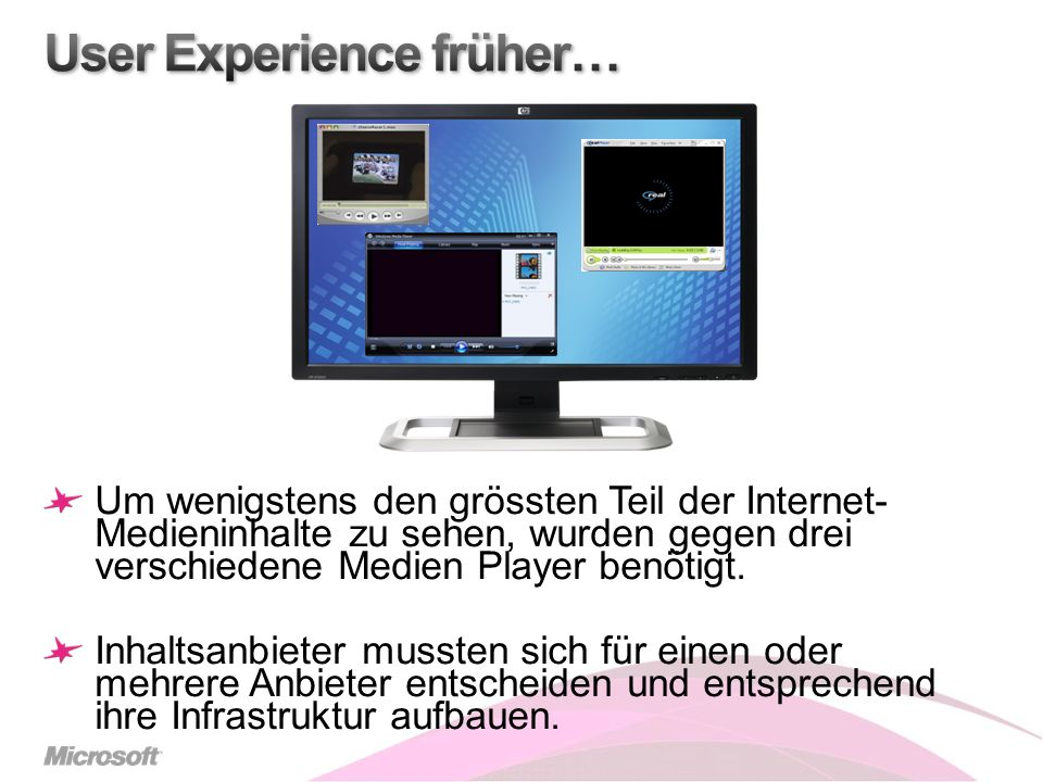 User Experience früher…