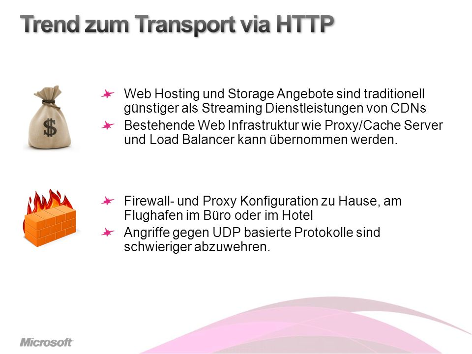 Trend zum Transport via HTTP