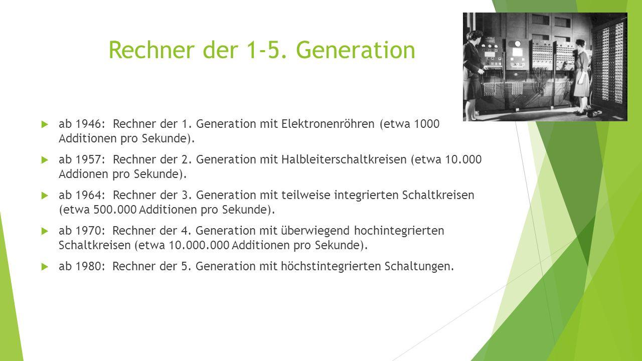 Rechner der 1-5. Generation
