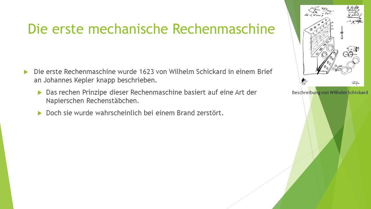 Die erste mechanische Rechenmaschine