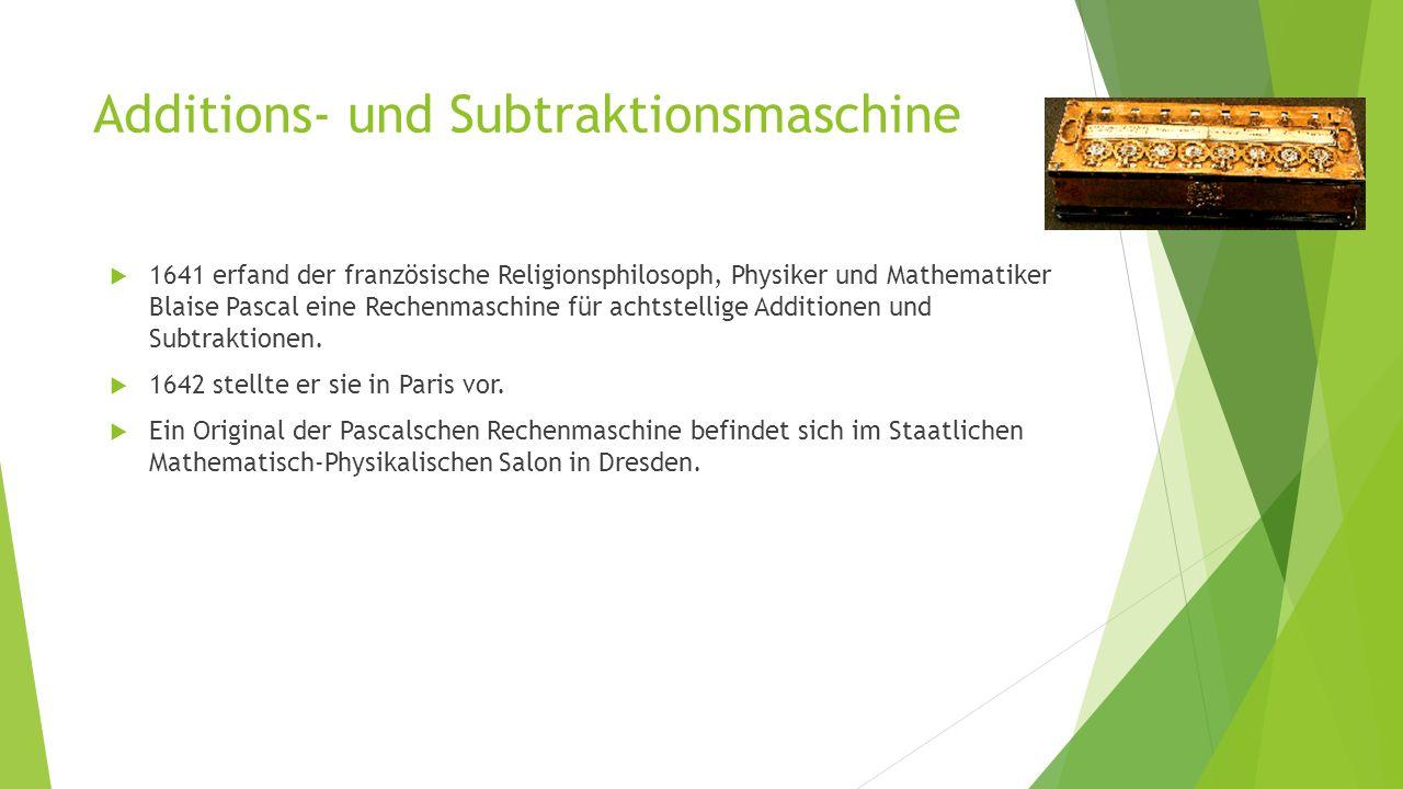 Additions- und Subtraktionsmaschine