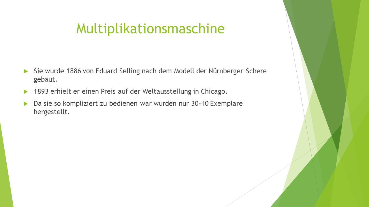 Multiplikationsmaschine