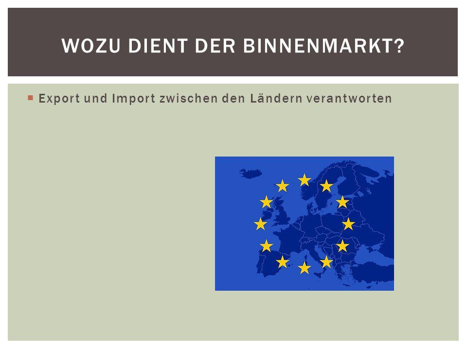 Wozu dient der Binnenmarkt