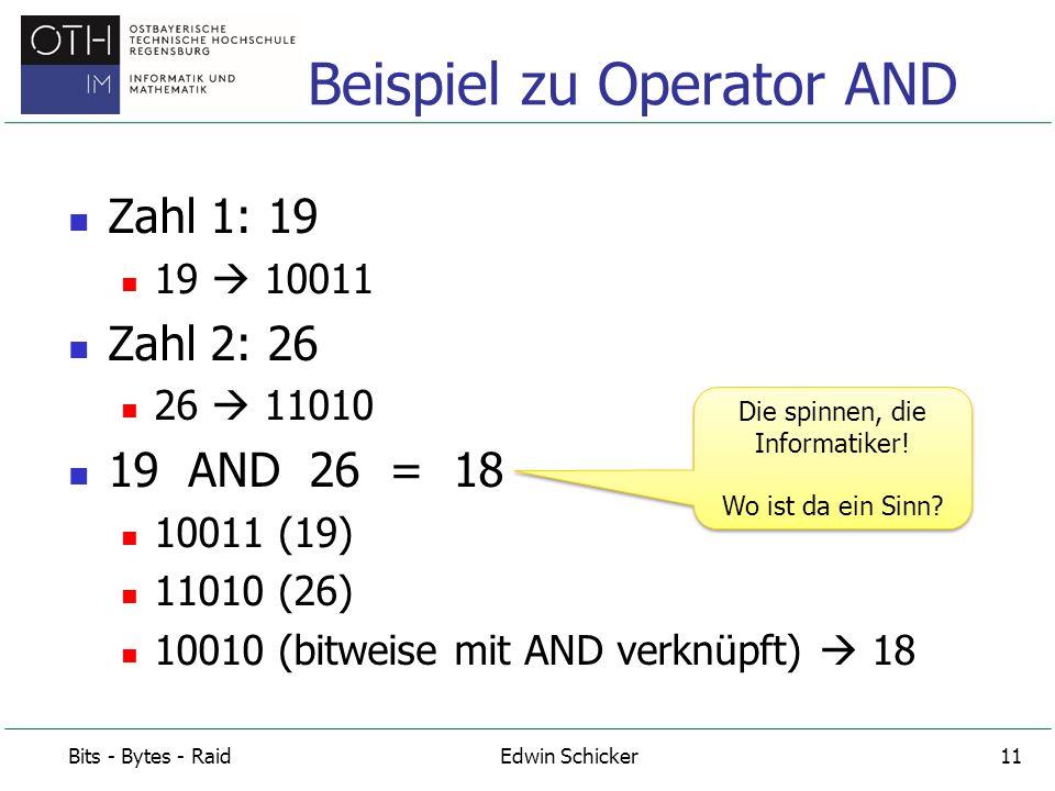 Beispiel zu Operator AND