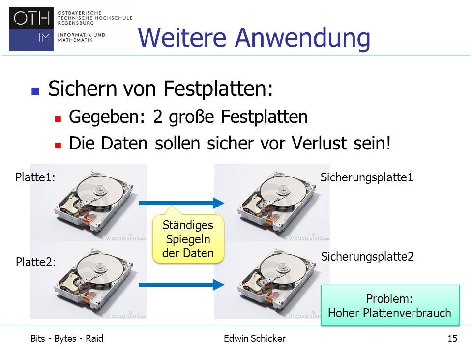 Weitere Anwendung Sichern von Festplatten: