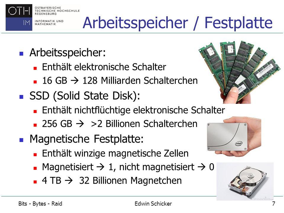 Arbeitsspeicher / Festplatte