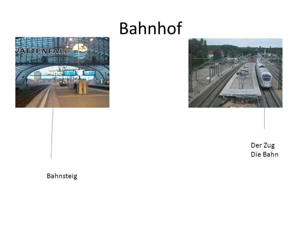 Bahnhof Der Zug Die Bahn Bahnsteig