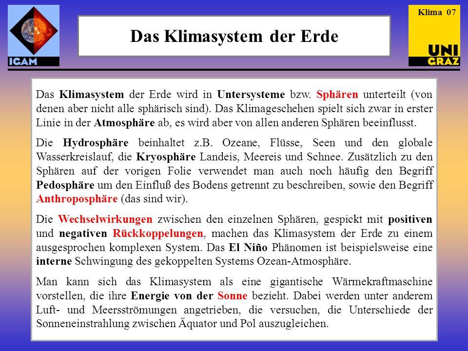 Das Klimasystem der Erde