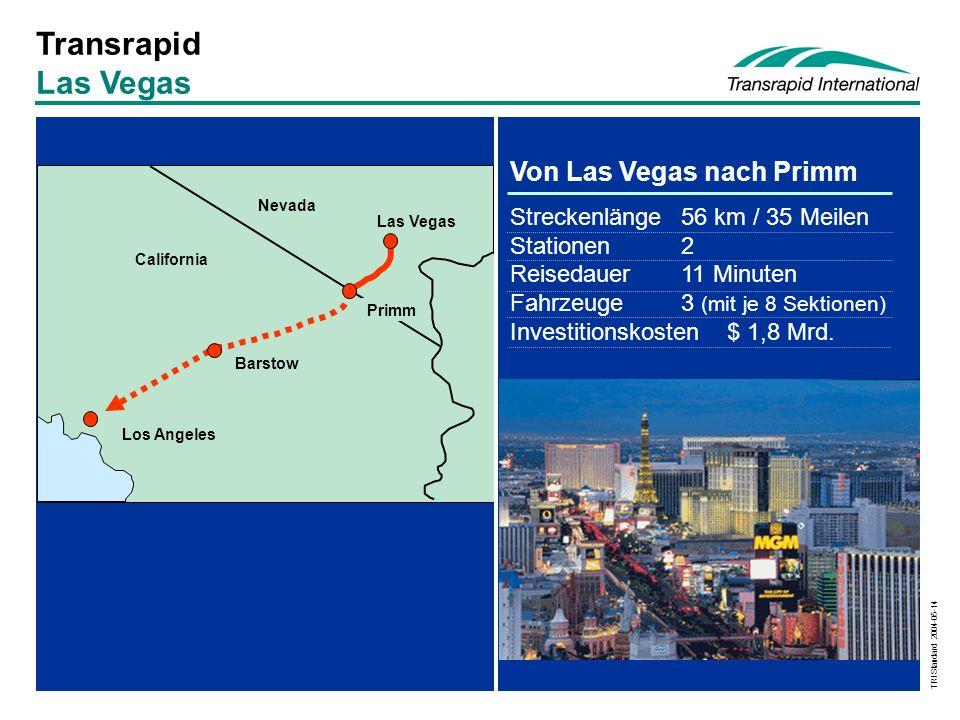 Transrapid Las Vegas Von Las Vegas nach Primm