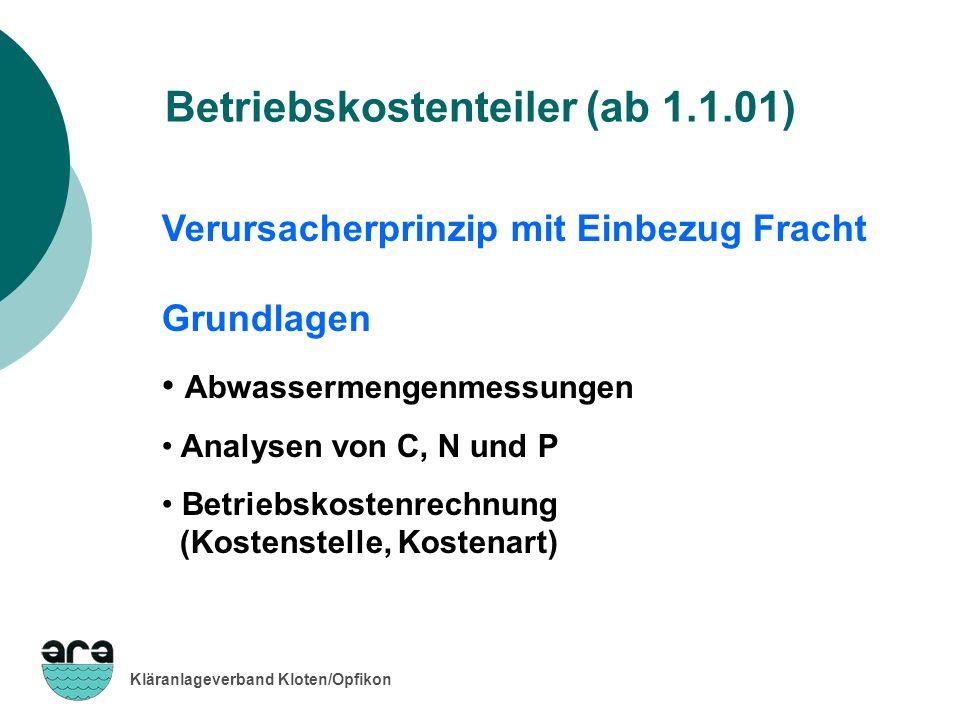 Betriebskostenteiler (ab 1.1.01)