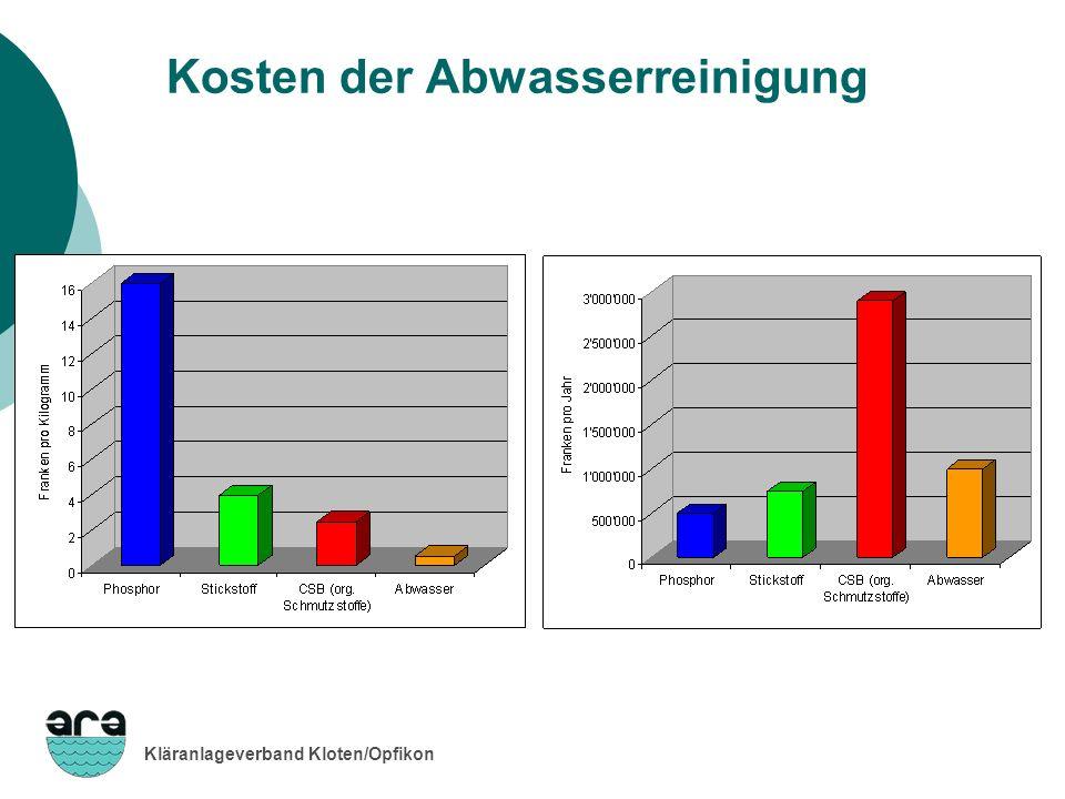 Kosten der Abwasserreinigung