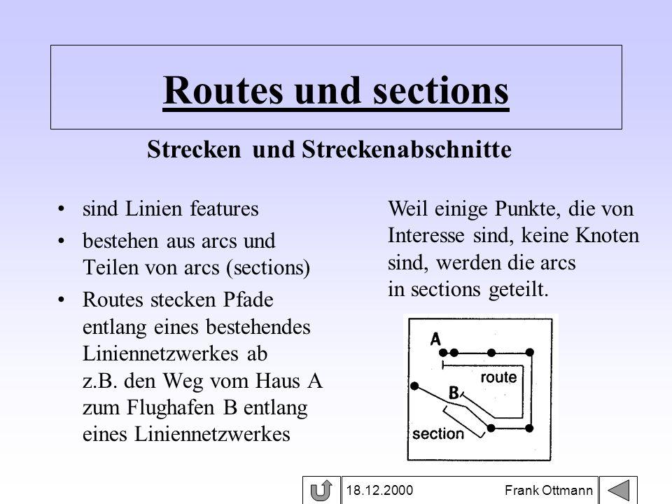 Strecken und Streckenabschnitte