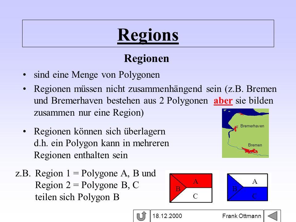 Regions Regionen sind eine Menge von Polygonen