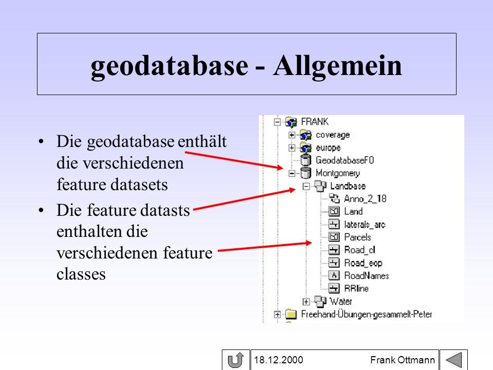 geodatabase - Allgemein