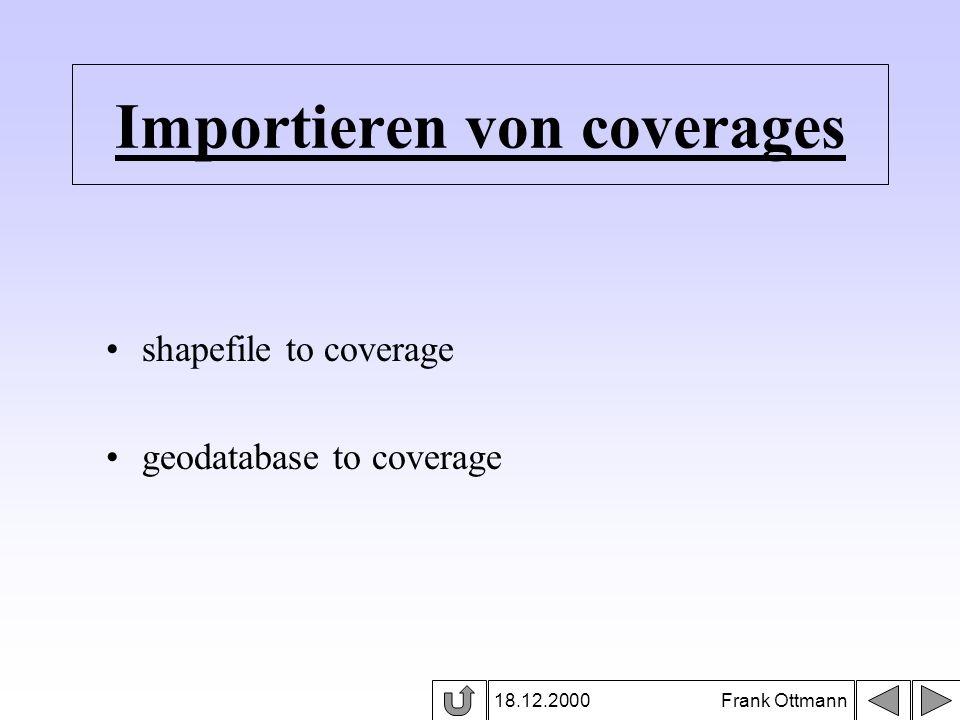 Importieren von coverages