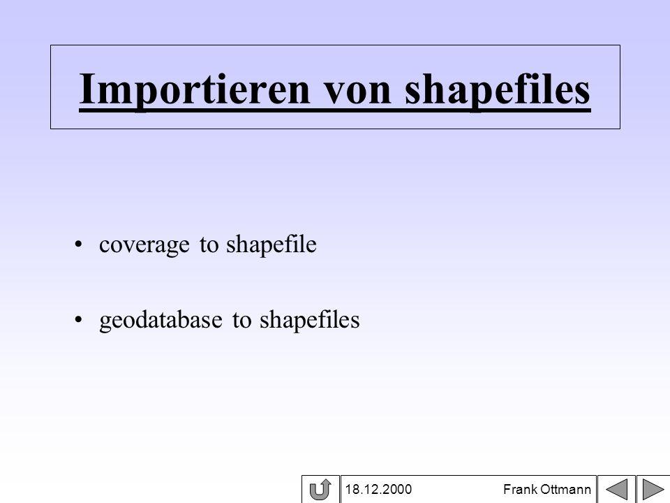 Importieren von shapefiles