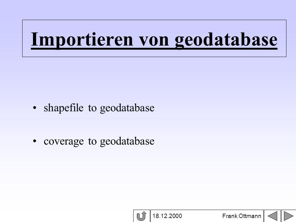 Importieren von geodatabase