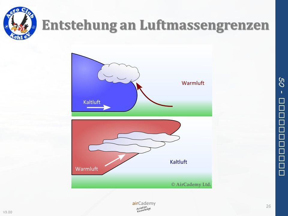 Entstehung an Luftmassengrenzen