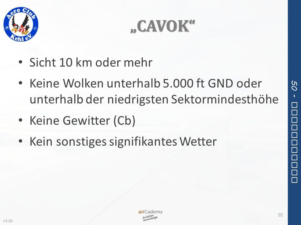 """""""CAVOK Sicht 10 km oder mehr"""