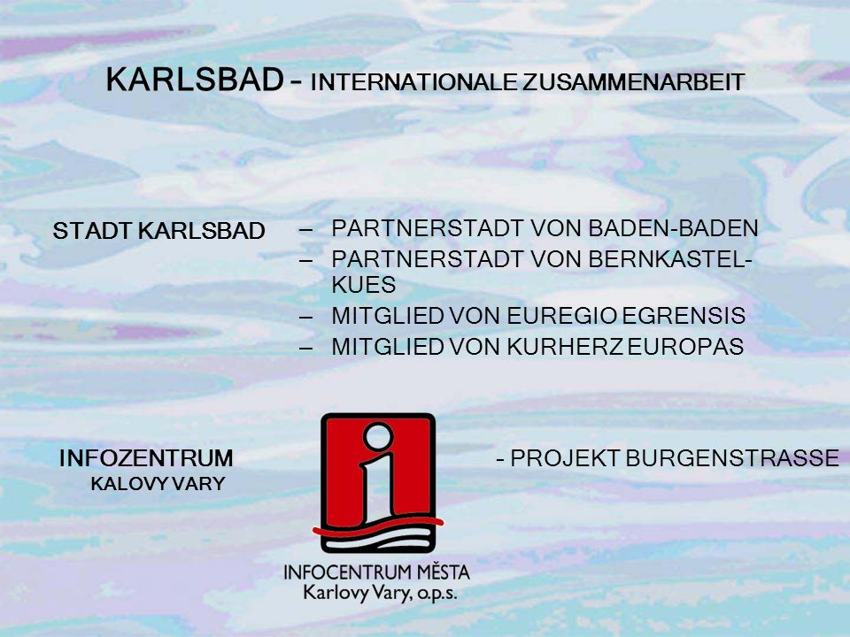 KARLSBAD – INTERNATIONALE ZUSAMMENARBEIT
