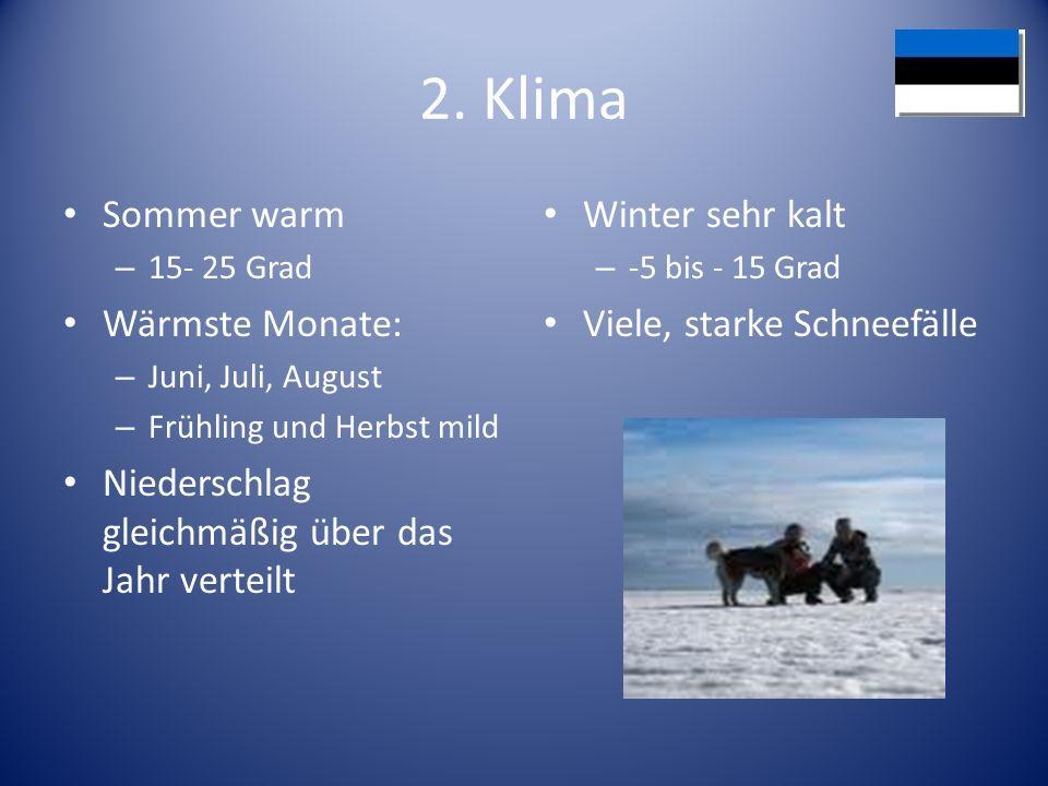 2. Klima Sommer warm Wärmste Monate: