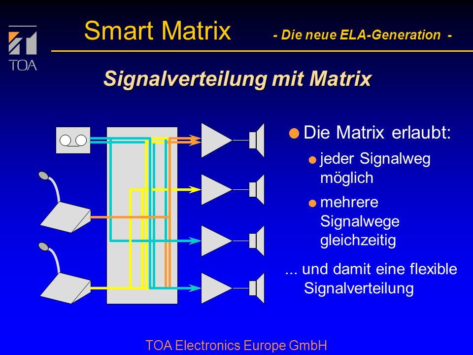 Signalverteilung mit Matrix