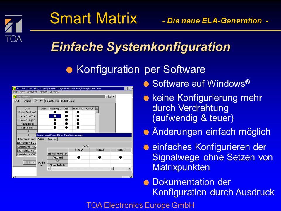 Einfache Systemkonfiguration