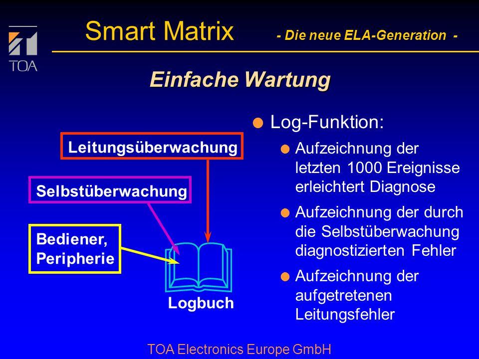 & Einfache Wartung Log-Funktion: Leitungsüberwachung
