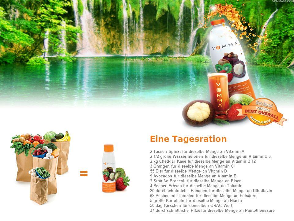 = Eine Tagesration 2 Tassen Spinat für dieselbe Menge an Vitamin A