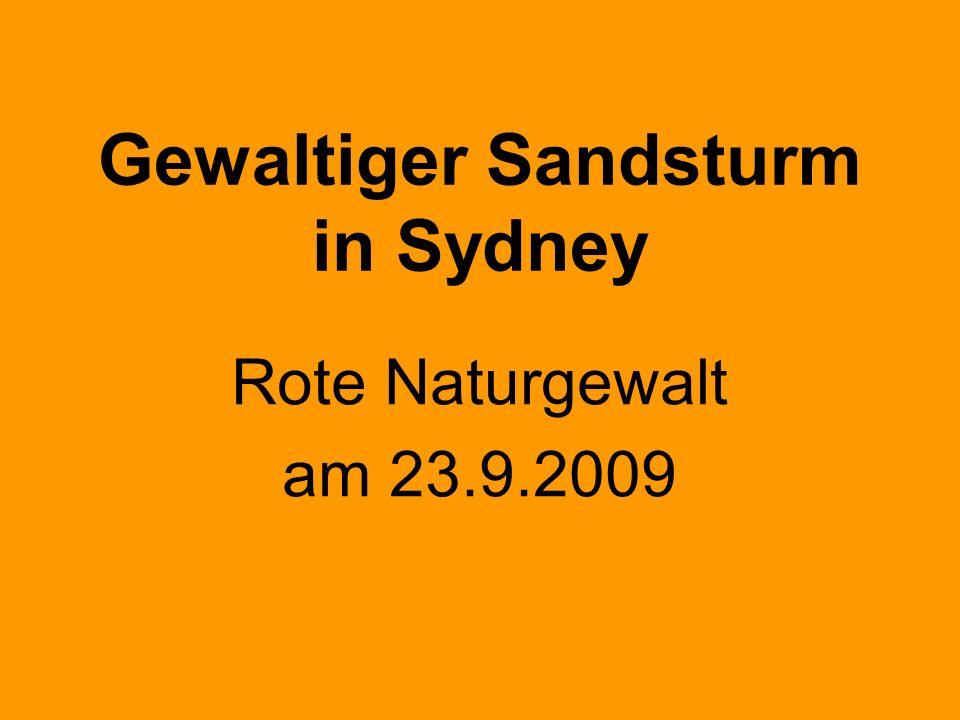Gewaltiger Sandsturm in Sydney