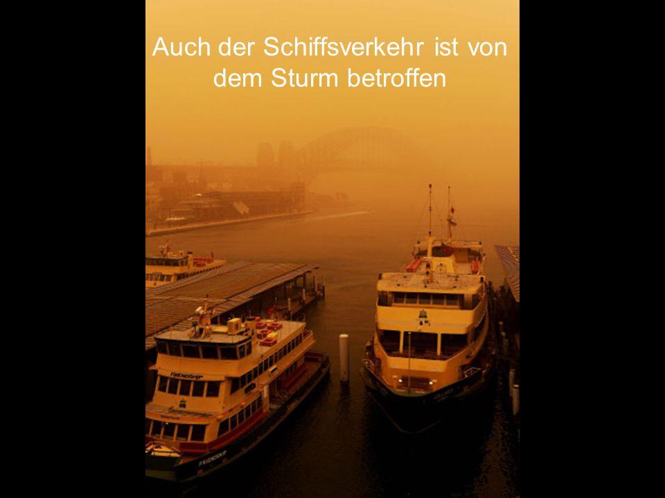 Auch der Schiffsverkehr ist von dem Sturm betroffen