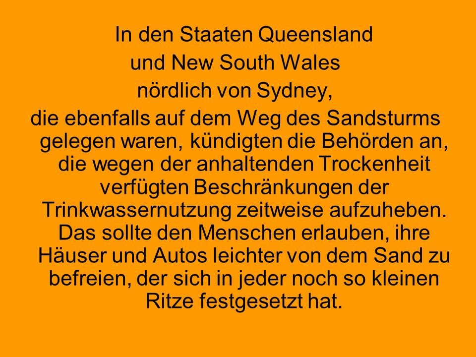 In den Staaten Queensland