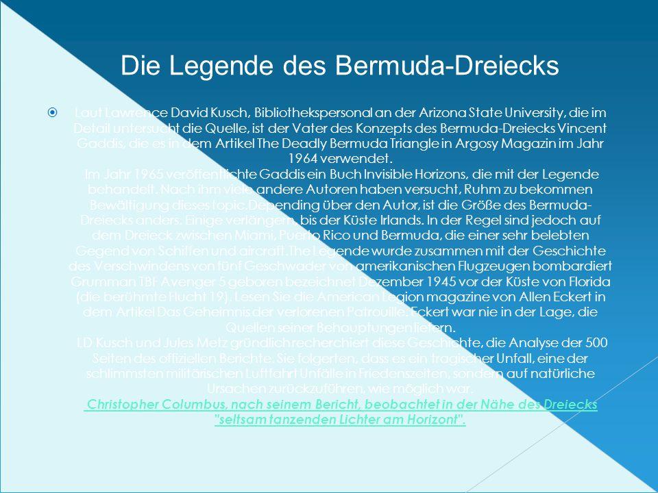 Die Legende des Bermuda-Dreiecks