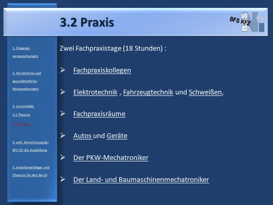 3.2 Praxis Zwei Fachpraxistage (18 Stunden) : Fachpraxiskollegen