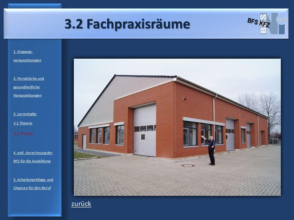 3.2 Fachpraxisräume zurück BFS KFZ 3.2 Praxis