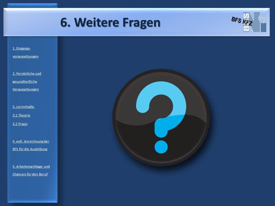6. Weitere Fragen Korthals BFS KFZ 1. Eingangs-voraussetzungen