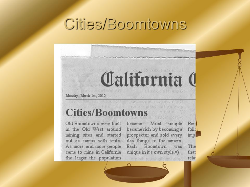 Cities/Boomtowns