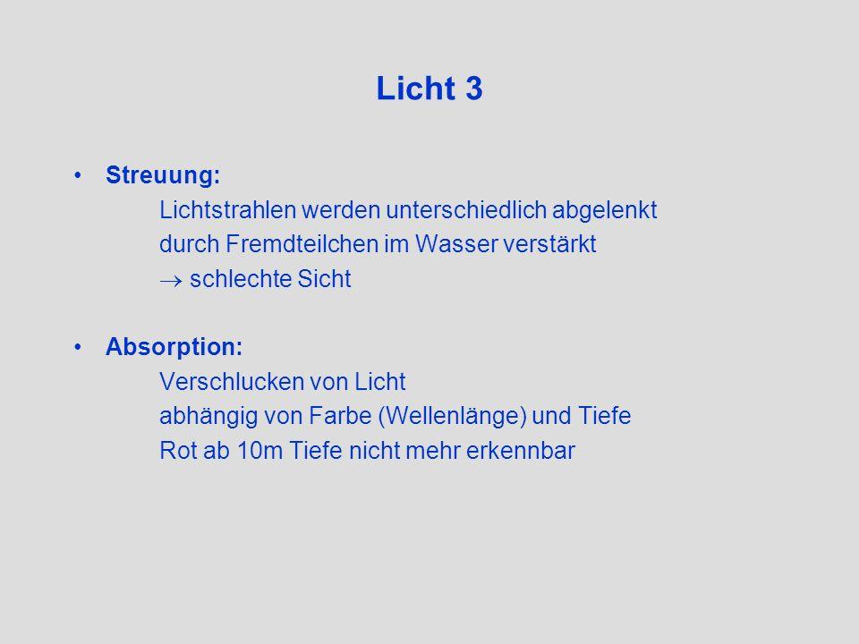 Licht 3 Streuung: Lichtstrahlen werden unterschiedlich abgelenkt