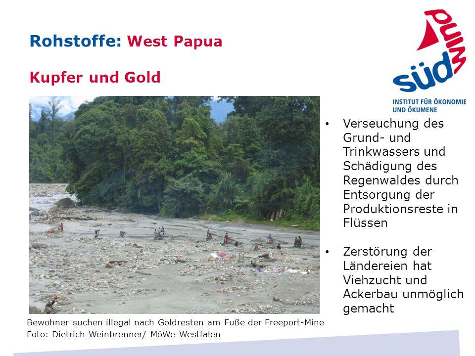 Rohstoffe: West Papua Kupfer und Gold