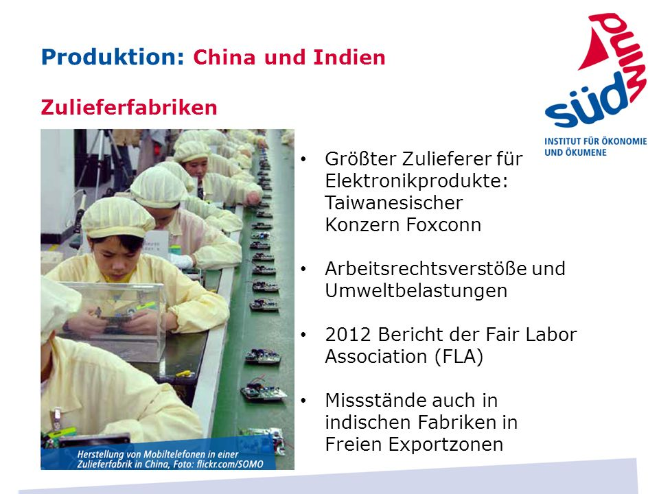 Produktion: China und Indien
