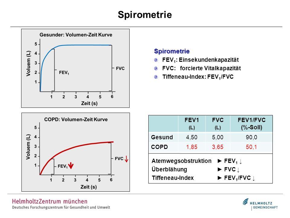 Spirometrie Spirometrie FEV1: Einsekundenkapazität