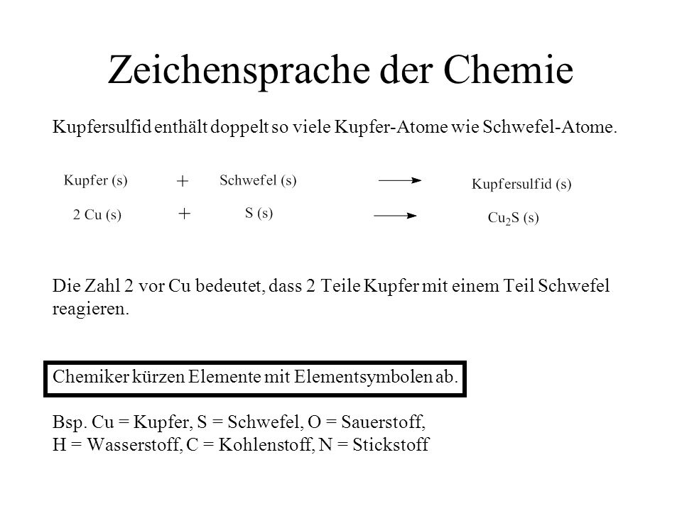 Zeichensprache der Chemie