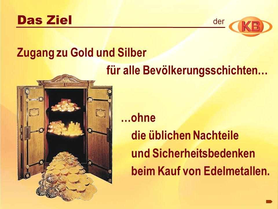 Zugang zu Gold und Silber für alle Bevölkerungsschichten…