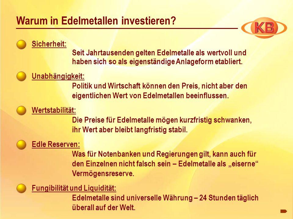 Warum in Edelmetallen investieren