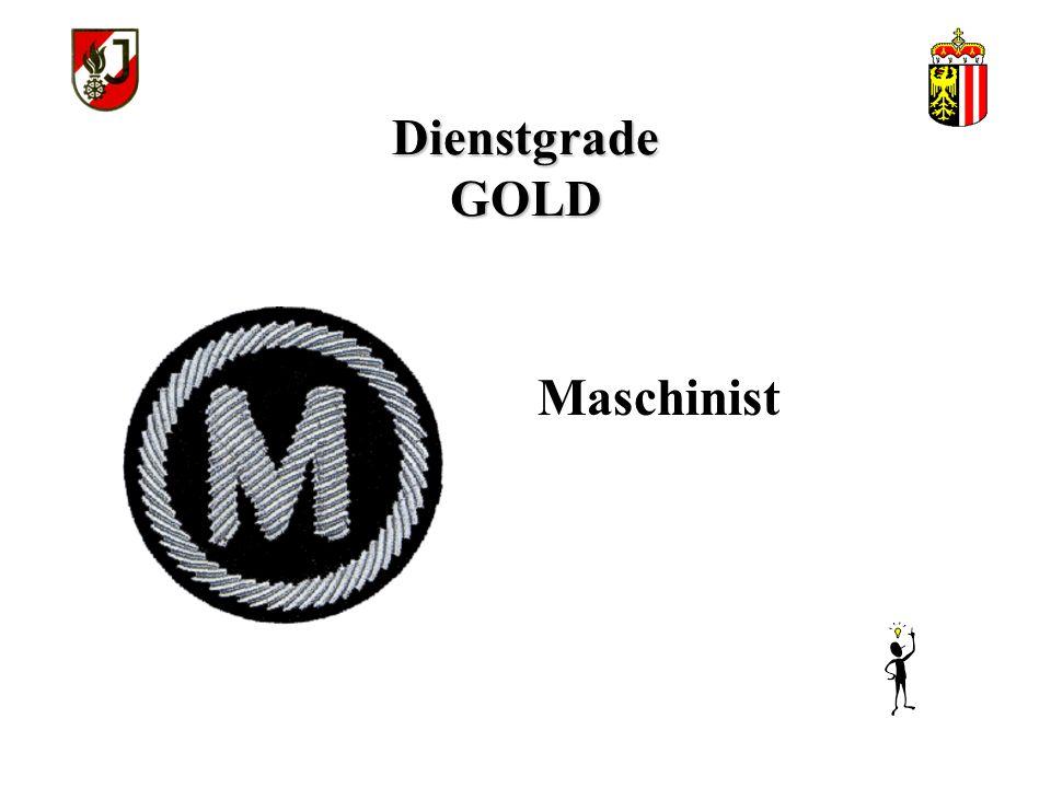 Dienstgrade GOLD Maschinist