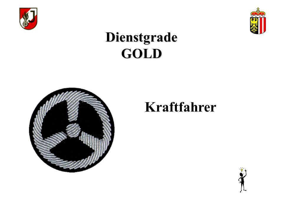 Dienstgrade GOLD Kraftfahrer
