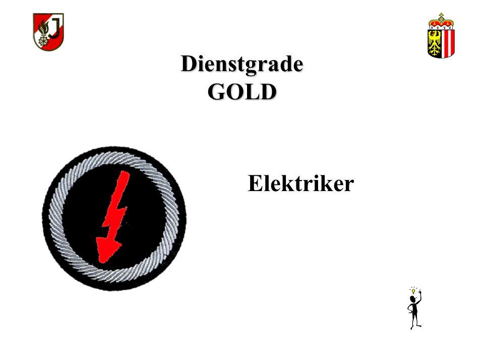 Dienstgrade GOLD Elektriker